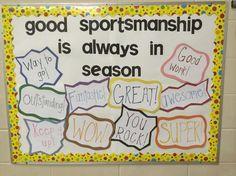 Good Sportsmanship is Always in Season Bulletin Board