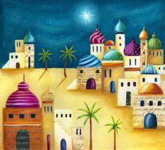 Christmas Nativity, Christmas Images, Christmas Art, Christmas Themes, Vintage Christmas, Christmas Decorations, Christmas Program, Art Painting Gallery, Arabic Art