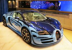 "Starring: Bugatti Veyron Supersport "" Le Saphir Bleu"" 1 of 1 by p3cks57 on Flickr."