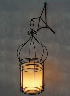 candle lantern. Love this idea for hallways!