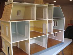 Dollhouse Restoration and Repair - Little DarlingsDollhouses/mostly painted walls w/little wallpaper