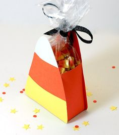 Free candy corn die cut template files for download. Compatible with most die cut machines. Very cute and easy to make.