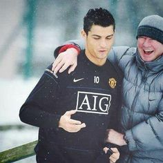 Cristiano Ronaldo and Alex ferguson :) #mufc