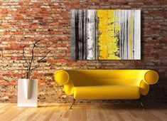 black, white, grey, yellow, abstract, wall art, contemporary, canvas art, landscape, canvas print, modern,