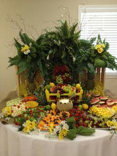 Fruit & veggie table by Jody Smith