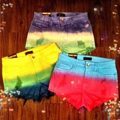 NEW High-Waisted Dip Dyed Shorts at 4th & Ocean for only $24.99!
