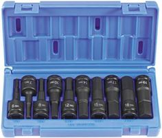 Grey Pneumatic 1498MH 12 Drive Impact Hex Driver Metric Set  10 Piece -- Learn more by visiting the affiliate link Amazon.com on image.