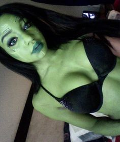 Gamora cosplay makeup test (Kay Thomas Cosplay) (Self)