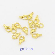 10mm 100pcs/lot Lobster Trigger Claw Clasps Connector for Jewelry DIY
