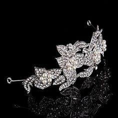 Vintage Design Wedding Bride Crystal Flowers Hair Accessior Handband – CAD $ 25.01