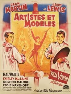 Posteritati: ARTISTS AND MODELS 1955 French 47x63