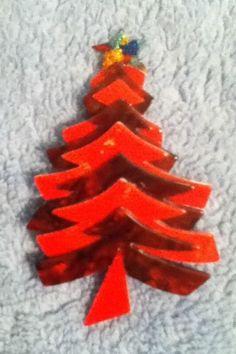 Vintage Lea Stein Christmas Tree Pin