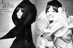 Audrey Hepburn dressed in Valentino for Vogue Italia, August 1969. Photographs by Gian Paolo Barbieri.