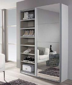 Minosa 2 Door Sliding Wardrobe Rauch Size: 197cm H x 136cm W x 48cm D