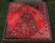Gipsy Quilt: Crazy  A chair seat cover