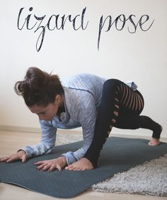Pin it! Lizard pose. Wearing: Zara burnout sweatshirt (old, similar), asos slash leggings (similar).