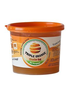 Triple Orange All Purpose Cleaner Wonder Gel All Purpose Cleaners, Going Natural, Coffee Cans, Biodegradable Products, Cleaning, Dishes, Orange, Drinks, Food