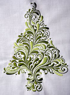 Christmas Tree embrodiery by Sawyers Nana.  This could be great done Calligraphically.