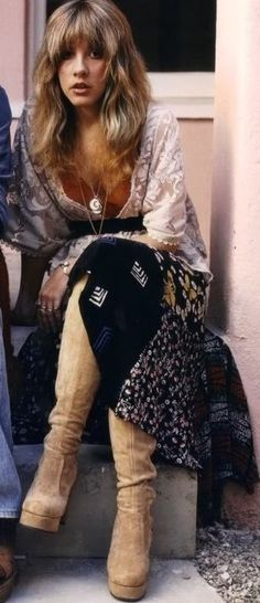 Stevie Nicks in the 1970s style