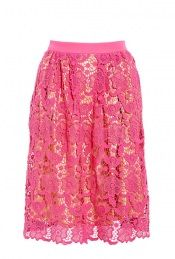 Neveah Pink Lace Skirt by By Malene Birger