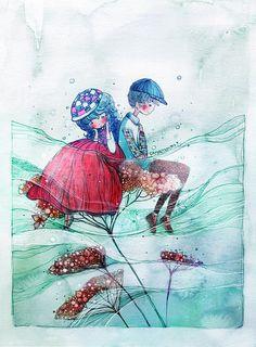 Watercolor Paintings by Nguyenshishi | Showcase of Art & Design