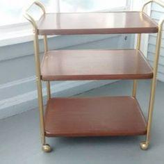 Bar Cart, Office Cart, Rolling Cart, Cart, Utility Cart, Plant Stand, Book Shelf, Vintage, Mid Century Modern