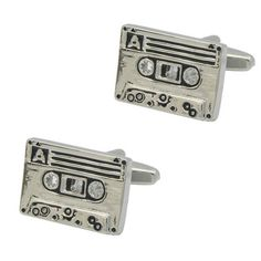 Cassette Cufflinks for the retro look. Huge range of music cuff links at The Cufflink Club. We sell cufflinks online Australia wide. Free Black, Retro Look, Cufflinks, Range, Club, Detail, Music, Silver, Stuff To Buy