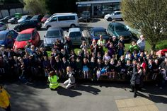 Dunton Green school children welcome Lizzy at Riverhead