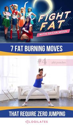 Fat burning workout for Halloween inspired by Sailor Moon! If you love fitness and need a fun at home workout for the halloween season, try out this Sailor Moon workout! Low impact cardio!