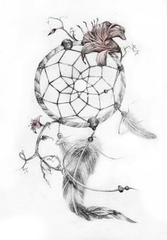 15+ Beautiful Flower Dreamcatcher Tattoo Ideas