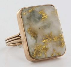 Vintage Estate Gold Quartz 14 Karat Yellow Gold Cocktail Ring Fine Heirloom Pre Owned Old Jewelry