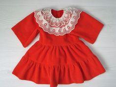 Puppenkleid, altes Kleid für größere Puppen