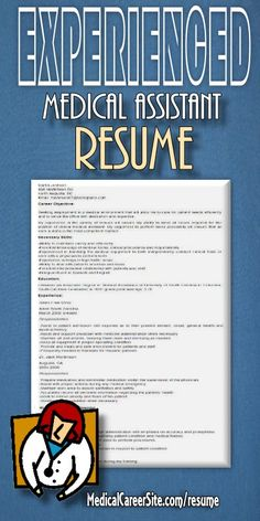 experienced medical assistant resume sample httpmedicalcareersitecom201202 - Clinical Medical Assistant Resume Sample