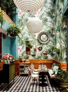 Salones y comedores con estilo tropical