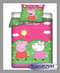 Peppa Pig Bedding 140x200   Pościel Świnka Peppa 140x200 - Kamkryst #peppa #peppa_pig #peppa_pig_bedding