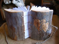 The Crafty Brides Blog: Woodsy Wedding Gifts... journal from etsy