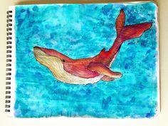 baleia, whale, watercolor, aquarela, sketchbook, illustration