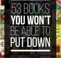 Buzzfeed, ja jag länkar till Buzzfeed, listar 53 böcker som ska vara så bra att det är omöjliga att lägga ifrån sig dem. De jag själv läst ur listan är blygsamma nio till antalet: 1.The Curious Inc...