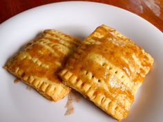 Brown sugar-cinnamon poptarts. Use puff pastry for ultimate ease!