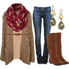 """""""Belted Cardigan"""" by qtpiekelso on Polyvore"""