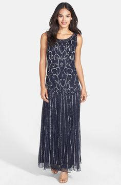 Embellished Mesh Dress (Regular & Petite)