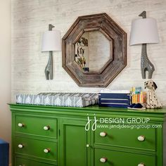 Love the green for painted furniture