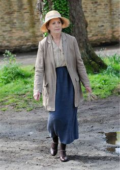 Penelope Wilton (Isobel Crawley) appears on the set of 'Downton Abbey' season 5 in the town of Bampton in Oxfordshire, England on April 24, ...