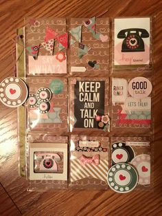 Keep Calm and Talk On Phones Pocket Letter