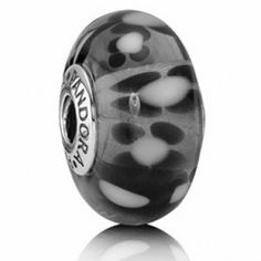 Pandora Murano Glass Bead Black Blossoms Jumbo Description >> $37.00