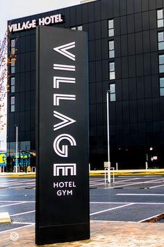 Hotel signage, large format, exterior, made to order - Bourke Bains Pylon Signage, Cafe Signage, Hotel Signage, Wayfinding Signage, Signage Design, Environmental Graphic Design, Environmental Graphics, Vertical Signage, Vienna House
