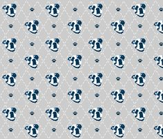 Bulldog fabric by jenfur on Spoonflower - custom fabric