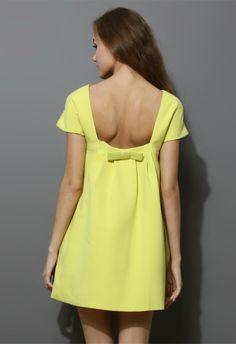 Bowknot Back Dress
