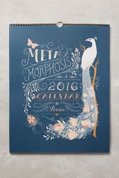 Perrin Metamorphosis Calendar #anthrofave