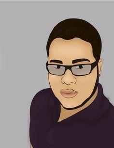 tentando desenhar meu namorado, beeem... até que não ficou tão ruim ^^